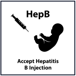 Accept Hepatitis B Injection: Black