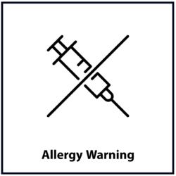 Allergy Warning: Black