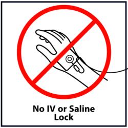 No IV or Saline Lock: Red