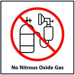 No Nitrous Oxide Gas: Red
