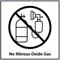 No Nitrous Oxide Gas: Black