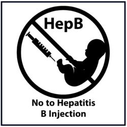 No to Hepatitis B Injection: Black